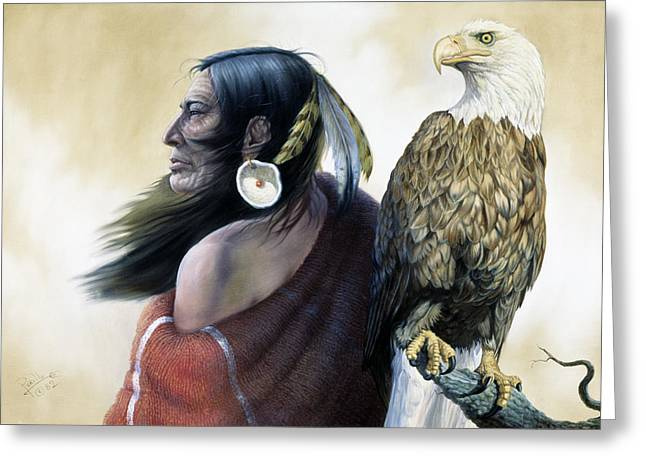 Native Americans Greeting Card by Gregory Perillo