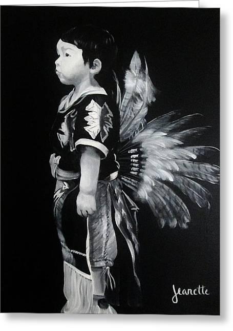 Native Boy Greeting Card