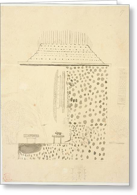 Native Building Greeting Card by British Library
