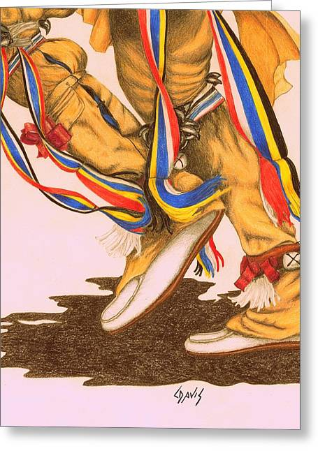Native Dancer's Feet 1a Greeting Card
