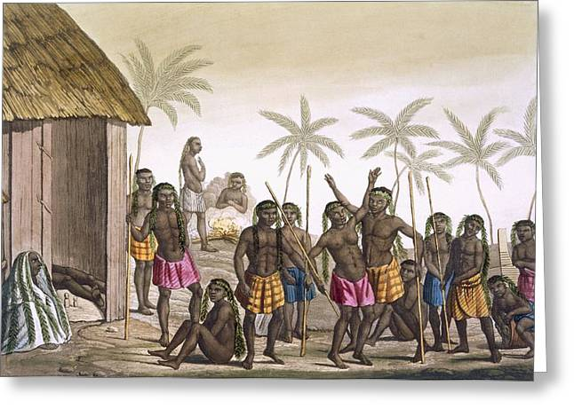 Native Funeral Service Near Luanda Greeting Card by Felice Campi