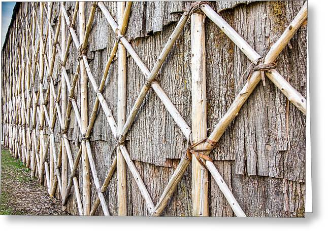 Native Longhouse Greeting Card by Nick Mares