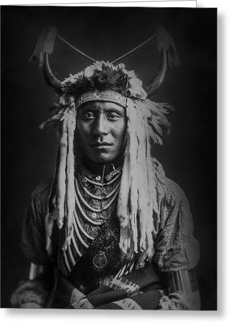 Native Man Circa 1900 Greeting Card by Aged Pixel