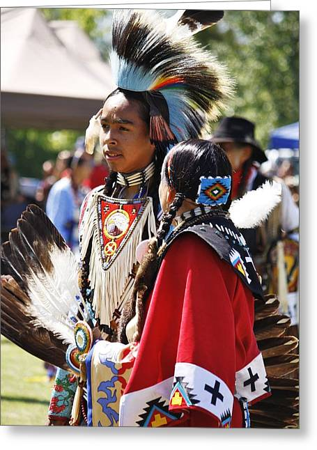 Greeting Card featuring the photograph Native Pride Shines by Al Fritz