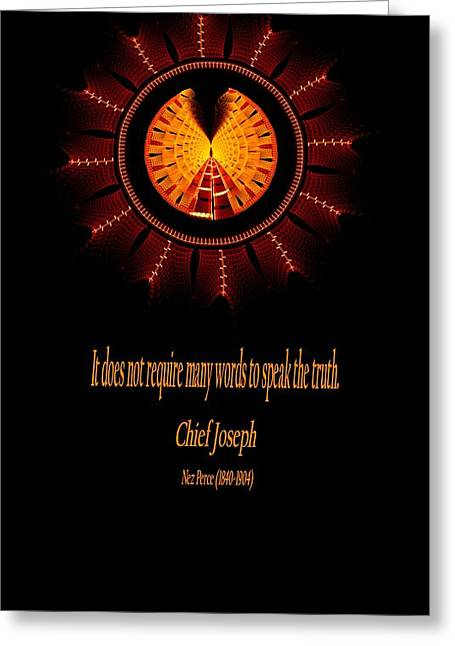 Native Truth - Chief Joseph Greeting Card