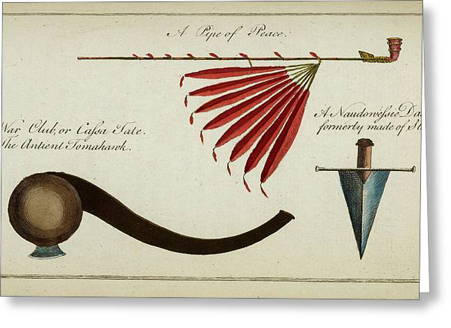 Native Weapons Greeting Card by British Library