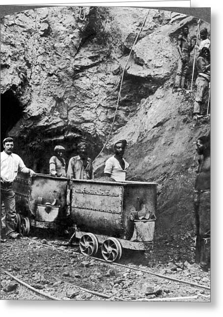 Native Workers In Diamond Mine Greeting Card