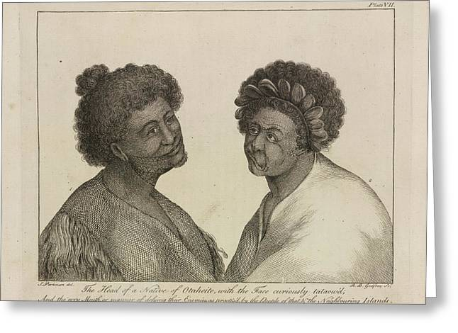 Natives Of Otaheite Greeting Card