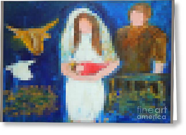 Nativity 1  Greeting Card by Richard W Linford