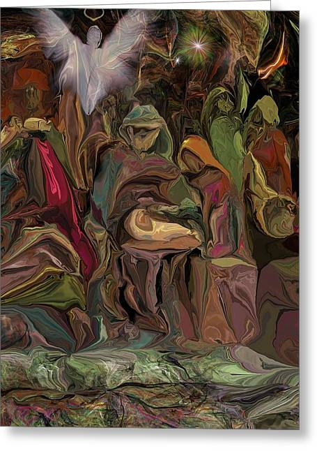 Nativity 1113 Greeting Card by David Lane