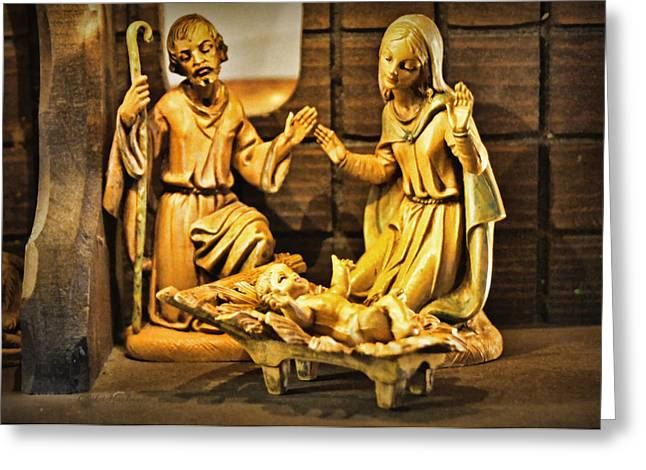 Nativity Greeting Card by Cricket Hackmann