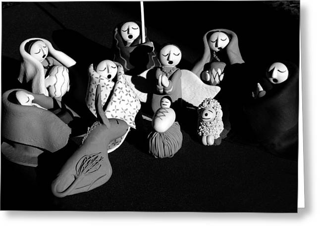Greeting Card featuring the photograph Nativity Earthenware by Ron White