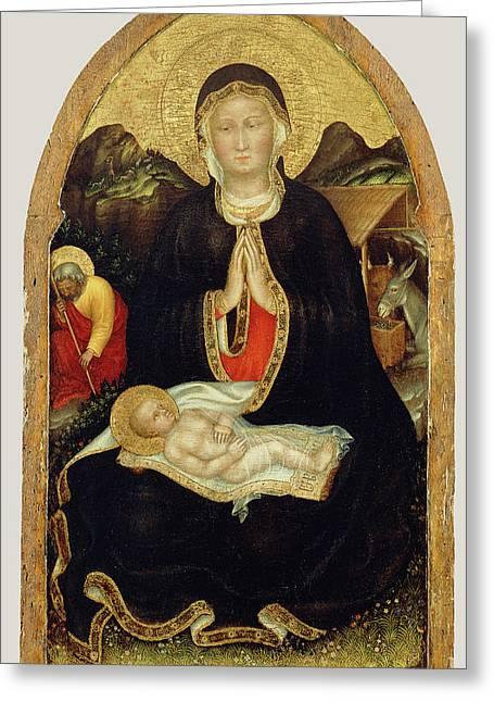 Nativity Gentile Da Fabriano, Italian Greeting Card by Litz Collection