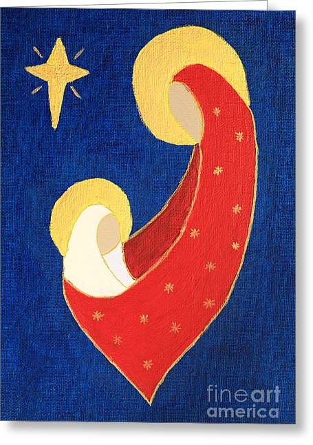 Nativity On Blue Greeting Card