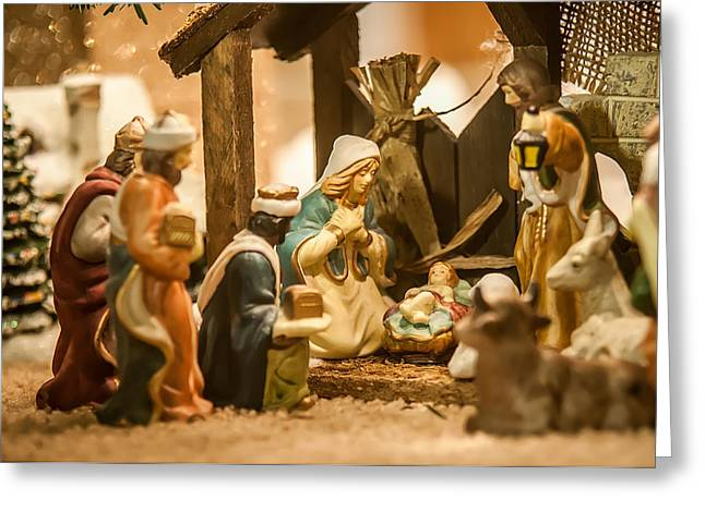 Greeting Card featuring the photograph Nativity Set by Alex Grichenko