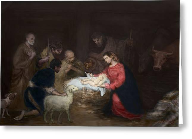 Nativity Greeting Card by Walter Lynn Mosley