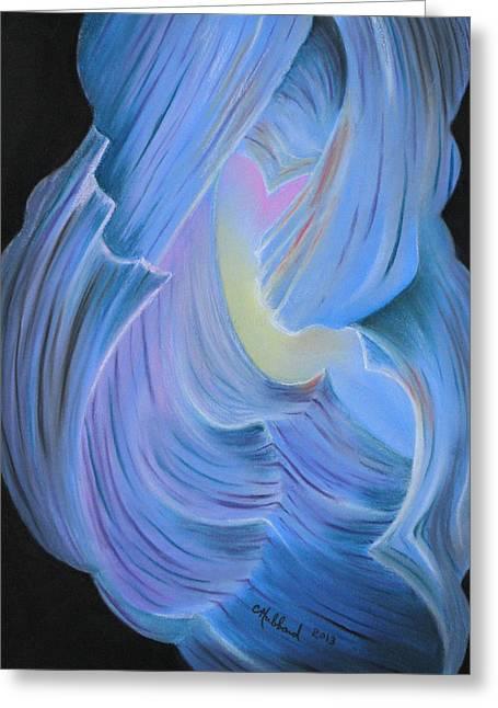 Natural Abstract 7 Greeting Card by Charles Hubbard