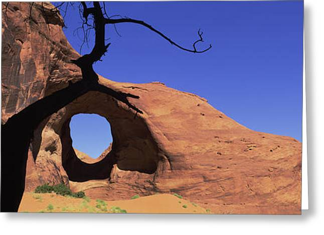 Natural Arch In A Desert, Monument Greeting Card by Panoramic Images