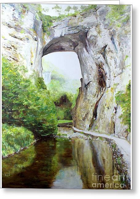 Natural Bridge Greeting Card by J Luis Lozano