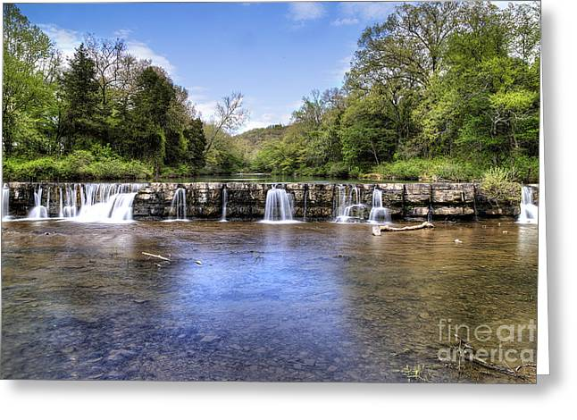 Natural Dam Falls Greeting Card
