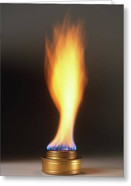 Natural Gas Burner Greeting Card