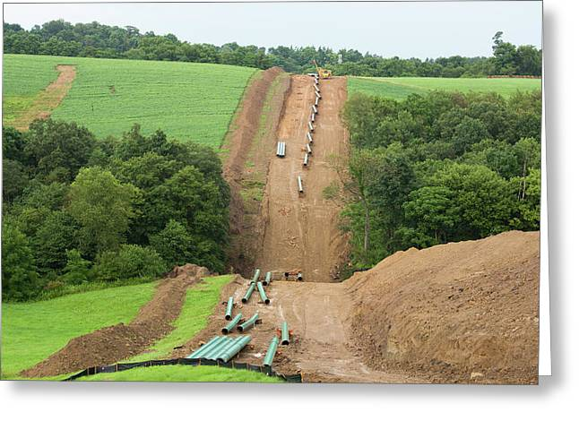 Natural Gas Pipeline Construction Greeting Card by Jim West