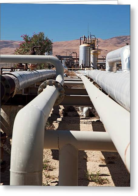 Natural Gas Pipelines Greeting Card by Jim West