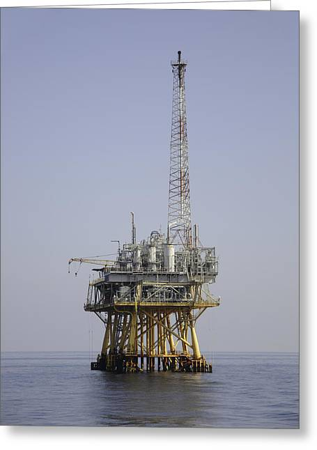 Greeting Card featuring the photograph Natural Gas Platform by Bradford Martin