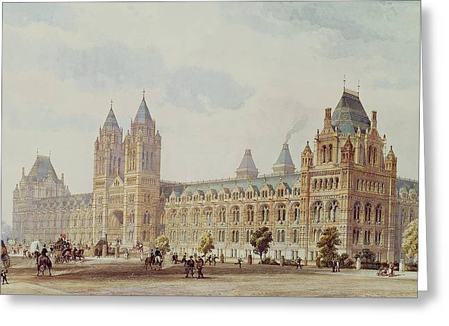 Natural History Museum  Greeting Card by Alfred Waterhouse