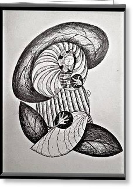 Natural Mind Greeting Card by John Andro Avendano