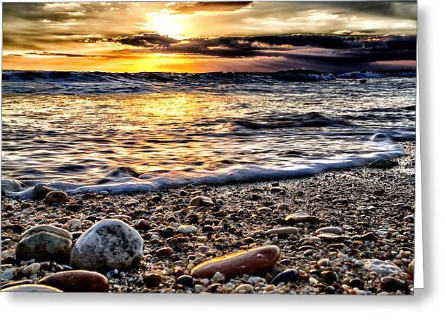 Natural Ocean Greeting Card by Stelios Kleanthous