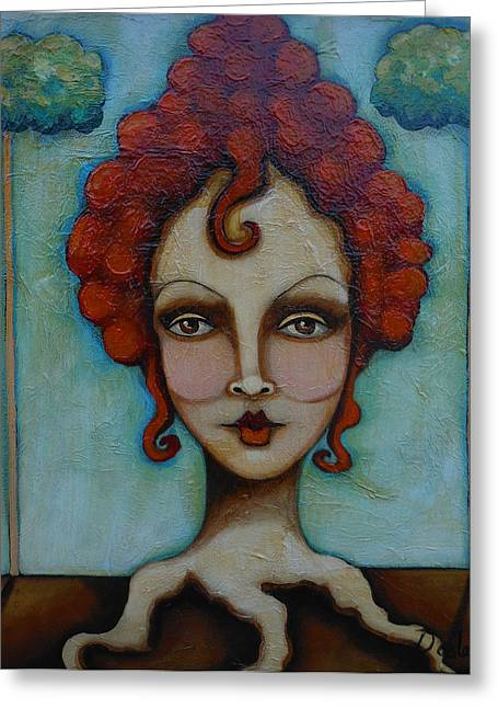 Natural Red Head Greeting Card