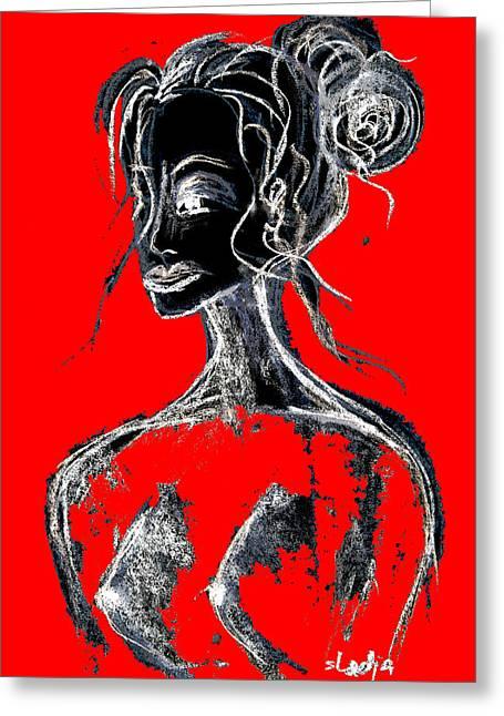 Natural Red Greeting Card by Sladjana Lazarevic