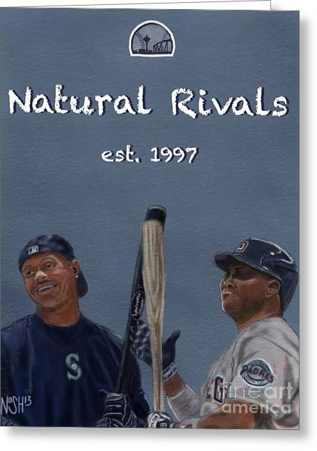 Natural Rivals Greeting Card by Jeremy Nash