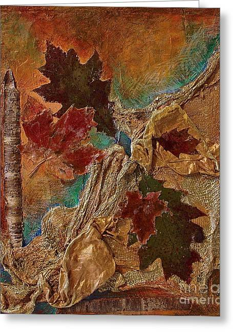 Natural Rythmes - Earth Colors  Greeting Card by Delona Seserman
