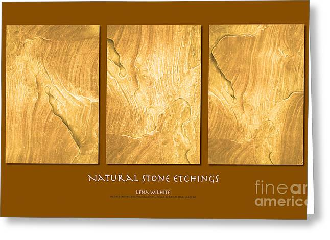 Greeting Card featuring the photograph Natural Stone Etchings by Lena Wilhite