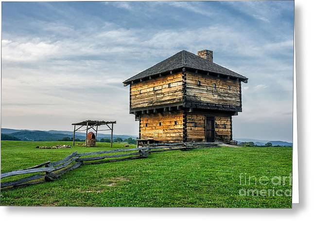 Natural Tunnel Blockhouse Greeting Card by Anthony Heflin