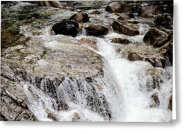 Backroad Waterfall Greeting Card