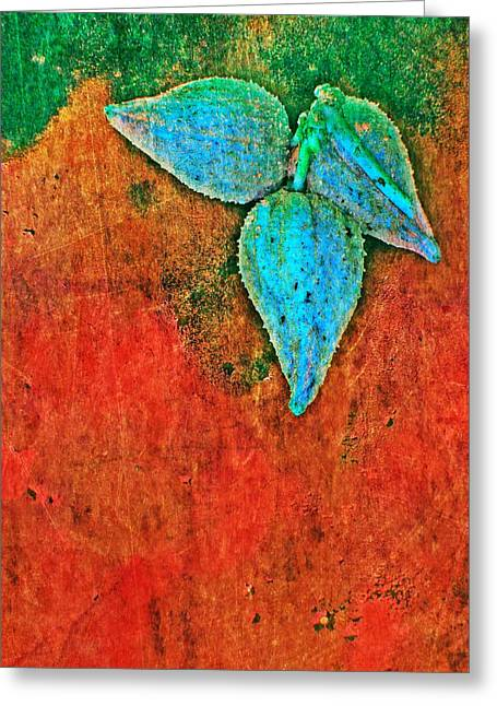 Greeting Card featuring the digital art Nature Abstract 11 by Maria Huntley