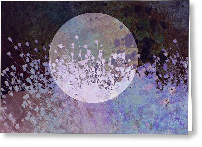 Nature Collage In Blue Greeting Card by Ann Powell