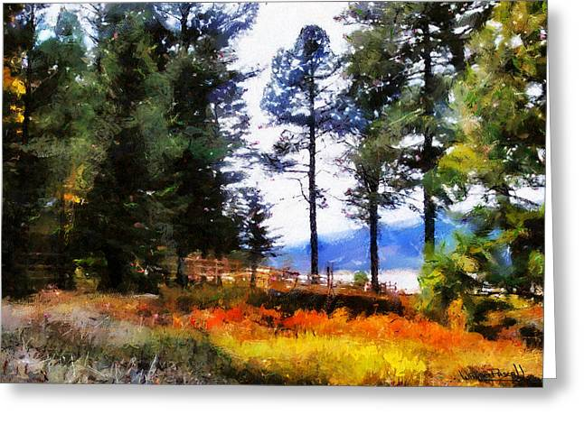 Greeting Card featuring the painting Nature Escape 1 by Wayne Pascall