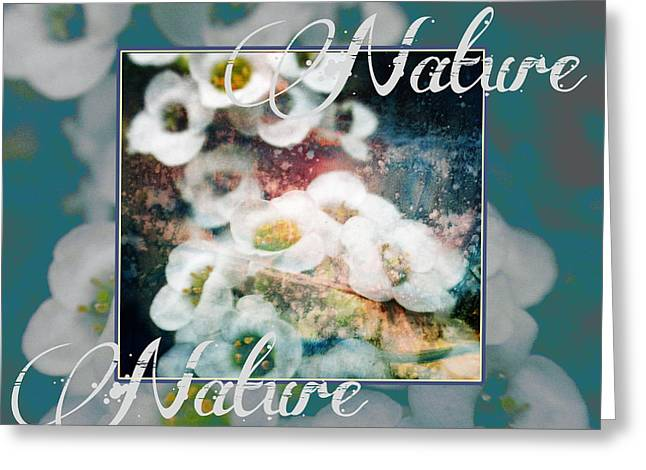Greeting Card featuring the painting Nature Floral Bouquet by John Fish