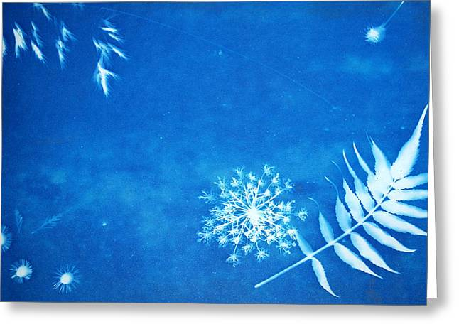 Nature In Celestial Blue Greeting Card