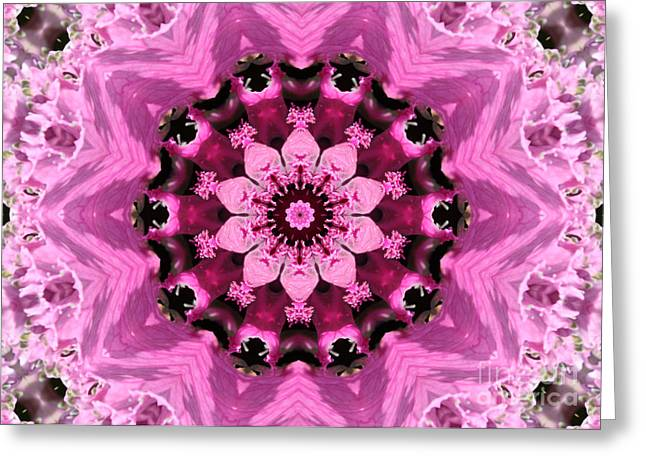 Nature Kaleidoscope 1 Greeting Card by Carol Groenen