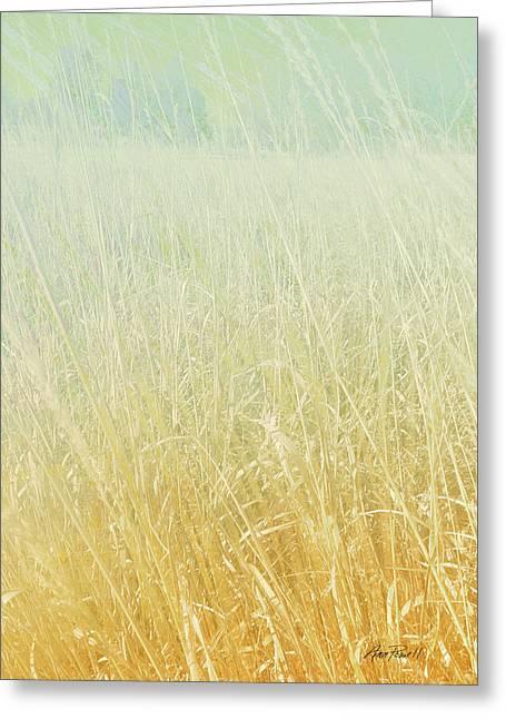 Nature  Landscape Tall Grass Prairie Winter By Ann Powell Greeting Card by Ann Powell