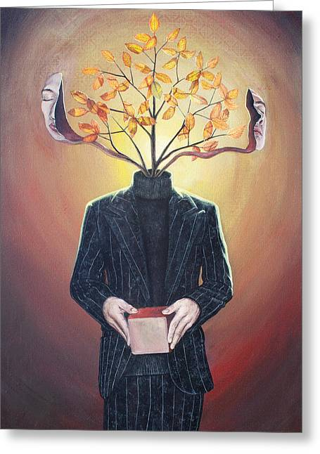 Nature Of Ego And Self Greeting Card by Vincent Fink