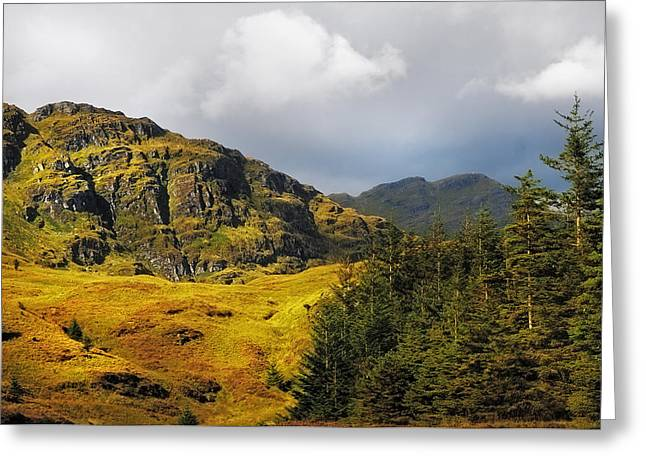Nature Of Rest And Be Thankful. Scotland Greeting Card by Jenny Rainbow