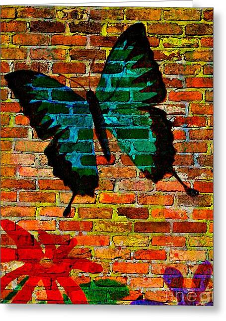 Nature On The Wall Greeting Card by Leanne Seymour