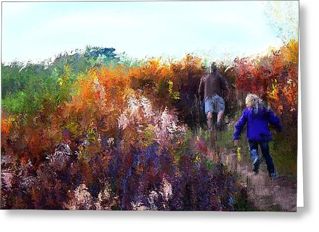 Nature Walk Greeting Card by Terence Morrissey