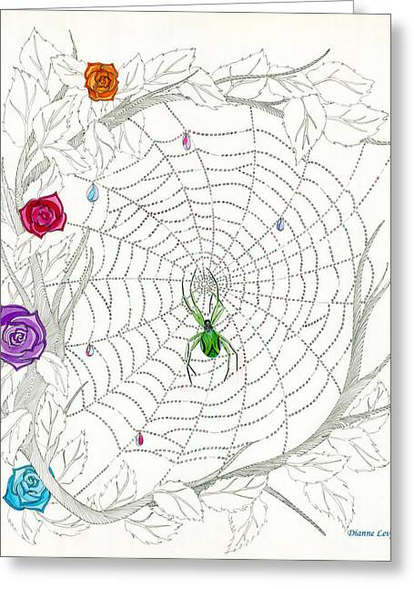 Greeting Card featuring the drawing Nature's Art by Dianne Levy
